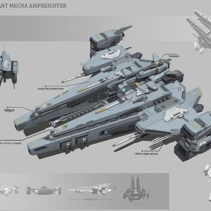Four - Giant Mecha Air Freighter Honor Student Work